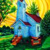"'Battin Chapel' 30"" x 40"" / acrylic paint / 2009"